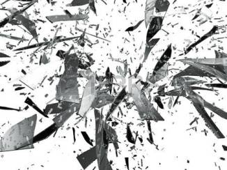 28703361-sharp-pieces-of-smashed-glass-isolated-on-white